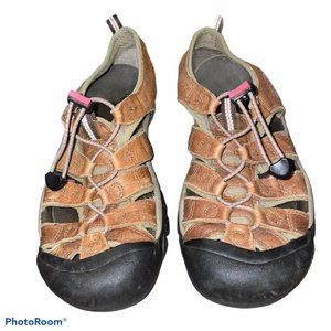 Keen Brown Leather Sandal Womens Size 9, EU 39.5 S